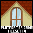 Village Platformer Game Tile Set