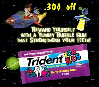 graphic regarding Trident Coupons Printable titled Cuppycakes Coupon Corner: Trident Bubble Gum for Youngsters