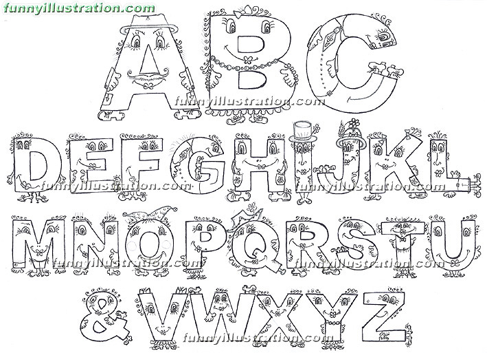 english alphabet coloring pages - photo#11