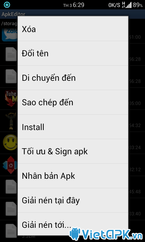 APK Editor v1.9.0 Việt Hóa - Chỉnh sữa trực tiếp APK ngay trên Android