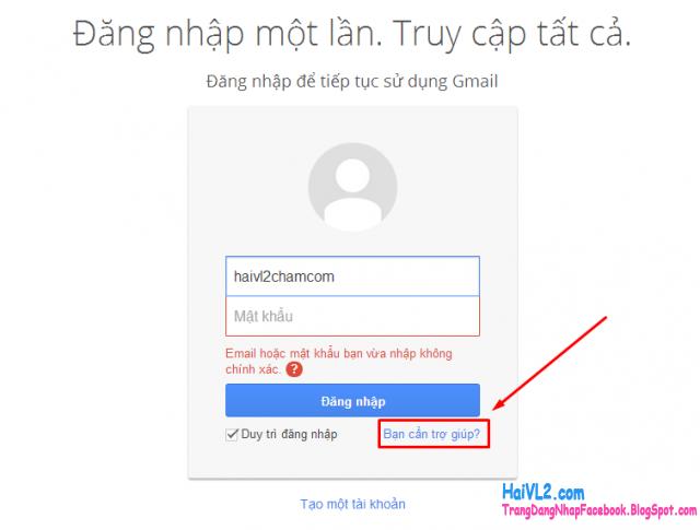 không thể đăng nhập vào gmail