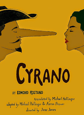 Portland Center Stage production of Cyrano poster, Art by Michael Buchino