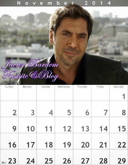 November Calendar/ Calendario mes deNoviembre
