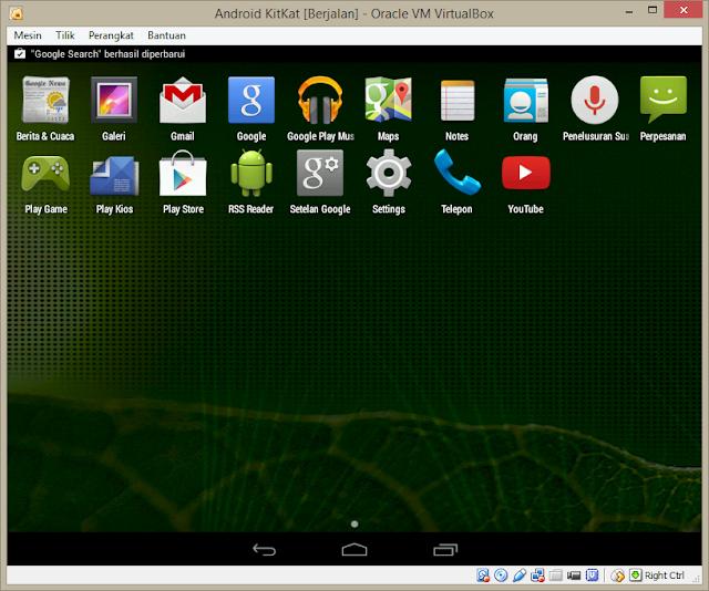 Menu Aplikasi Android KitKat