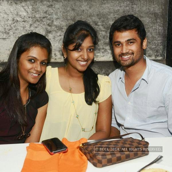Preethi, Maha and Dinesh during a party at Illusions, in Chennai.<br />