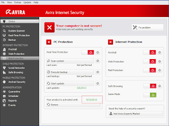 Avira Internet Security 2013 + Key Đến 2015