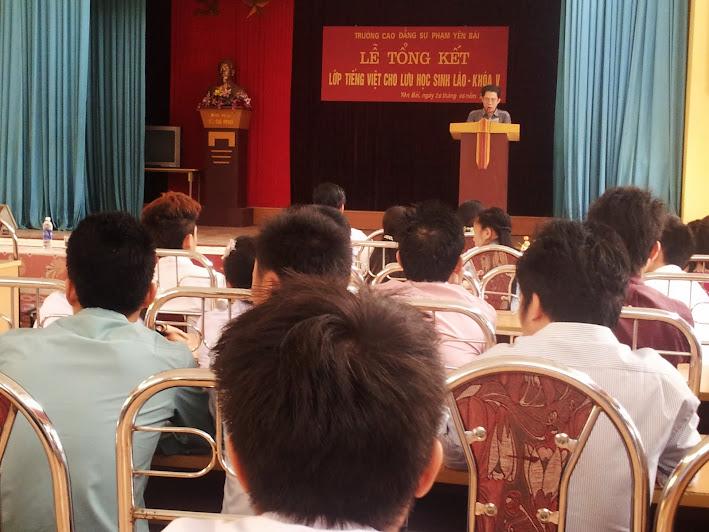 Trường Cao đẳng Sư phạm Yên Bái tổ chức tổng kết lớp tiếng Việt cho lưu học sinh Lào khóa V