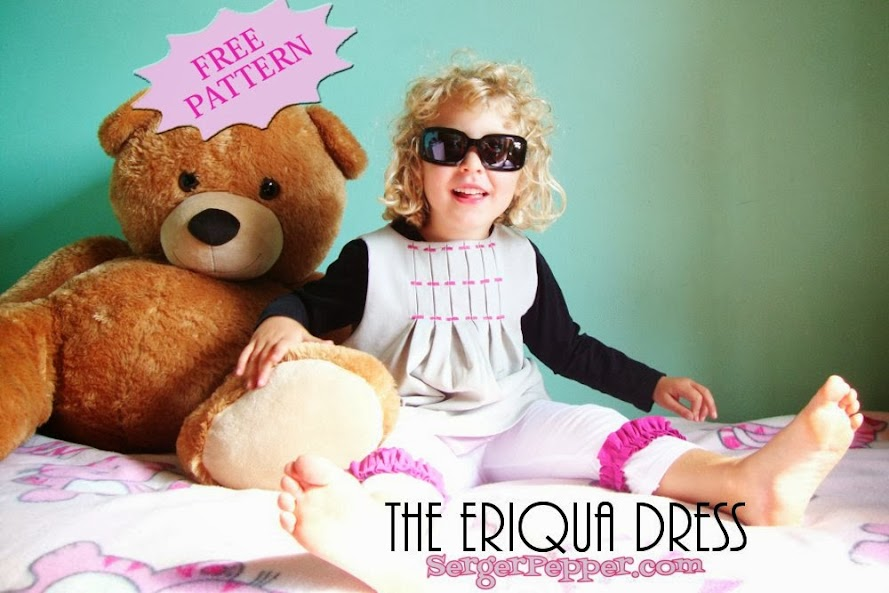 SergerPepper Eriqua Dress FREE sewing pattern