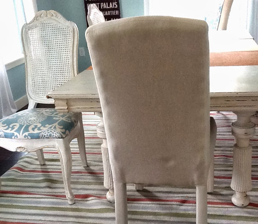 No Sew Dining Room Chair Makeover