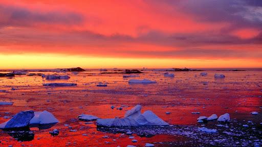 Icebergs at Sunset, Penola Strait, Antarctica.jpg