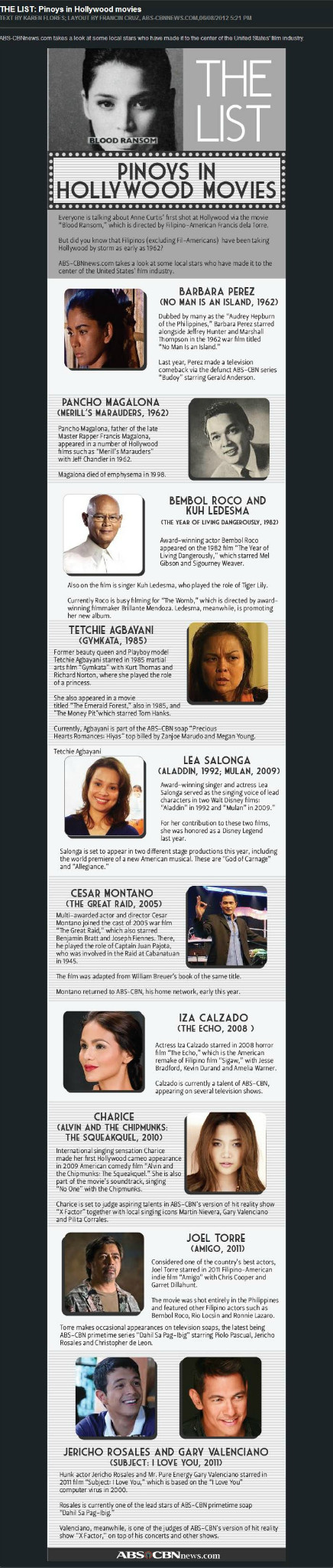 06/08/12 - ABS-CBN News - THE LIST: Pinoys in Hollywood Movies Pinoysinhollywoodmovies