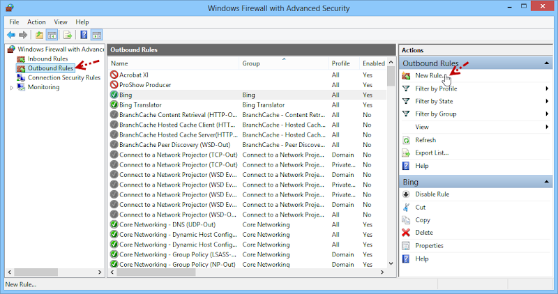 การบล็อกโปรแกรมไม่ให้เชื่อมต่ออินเตอร์เนตด้วย Windows Firewall Fwblockcon03