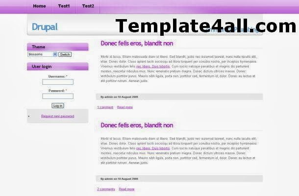 Free Business White Pink Drupal Theme Template