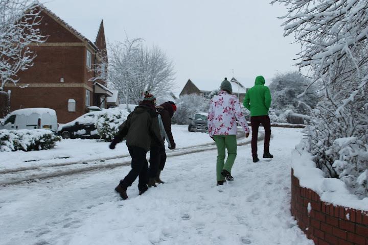 Cardiff snow walk