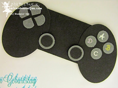 Stampin' Up!  Male Birthday, Geburtstagskarte Mann, Controller, Playstation, XBox, Punch Art, Another Great Year, Dein Tag