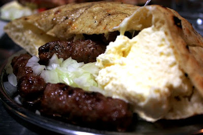 Cevapi for dinner in Sarajevo Bosnia