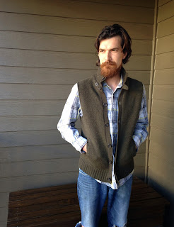 Ulterior Alterations Wool Sweater to Vest Refashion for Him