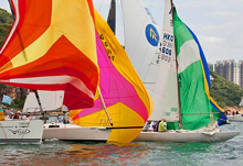 J/80 one-design sailboat- sailing Hong Kong Around Island Race