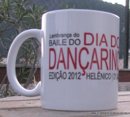 Diário, caneca e camiseta estarão disponível no baile, dia 21/07/2012, no Helênico Atlético Clube, no Rio Comprido.
