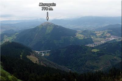 Murugain visto desde la cima de Tellamendi
