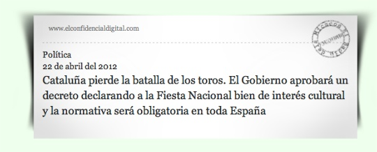 Notícia El Confidencial Digital