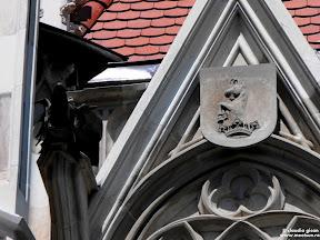 Castelul Corvinilor: detaliu acoperis cu tap incoronat