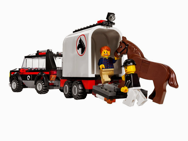 7635 レゴ シティ レゴの町 ホーストレーラー付きの4WD