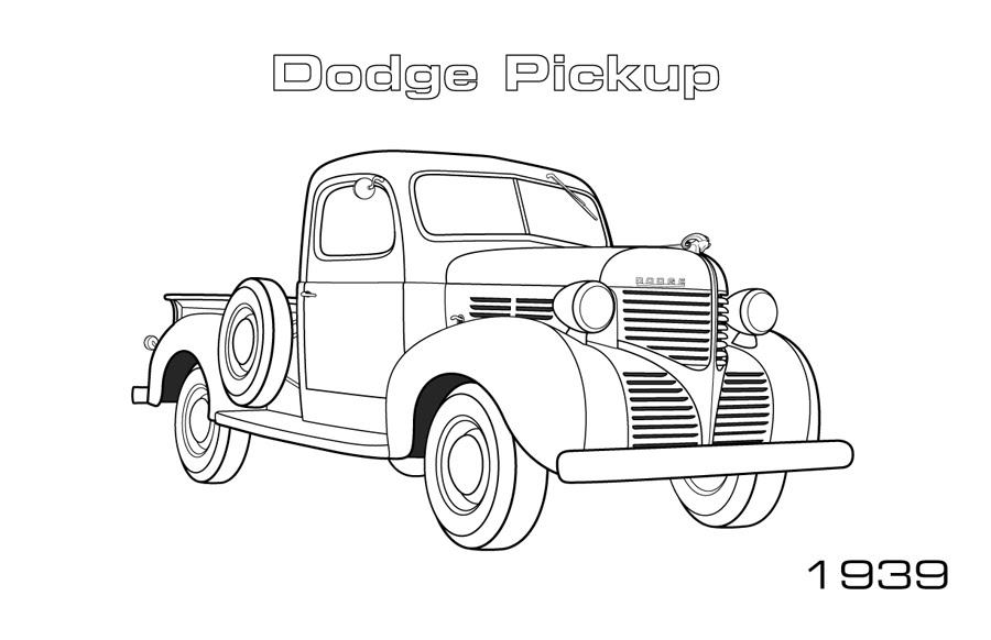1939 Dodge Pickup Coloring Page Car Coloring Pages