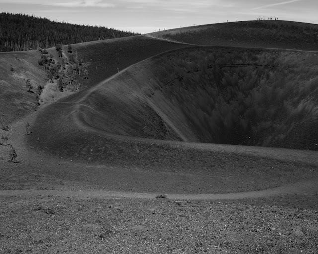 cinder cone crater