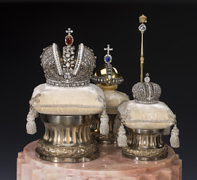 Faberge Miniatures of the Imperial Coronation Regalia, St. Petersburg, C. Faberge's Company. 1900.