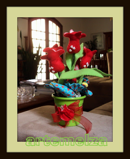 artemelza - tulipa de feltro