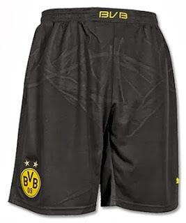 Jual Celana Bola Dortmund Home Terbaru 2014