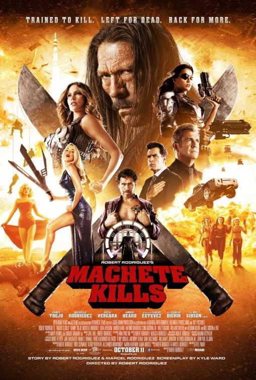 Poster Of English Movie Machete Kills (2013) Free Download Full New Hollywood Movie Watch Online At Alldownloads4u.Com