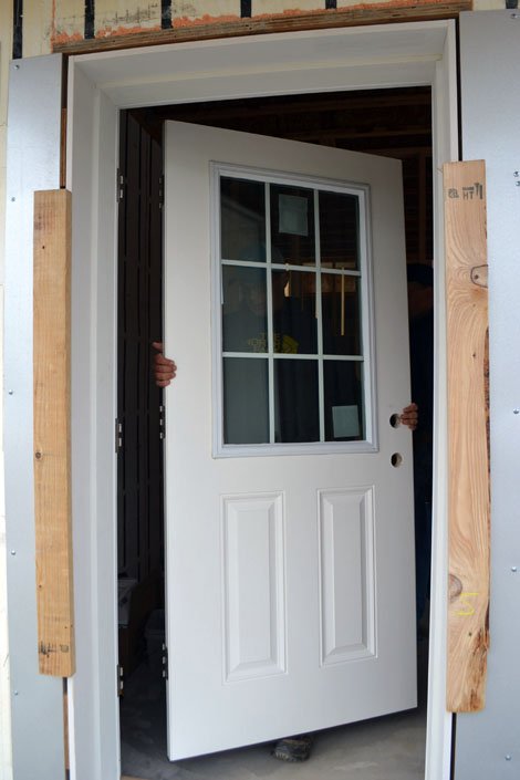 Door jamb extension jamb extension for Entry door installation