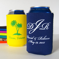 Personalized collapsible can koozies