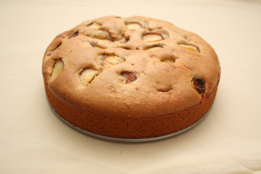Fruit cake with peaches