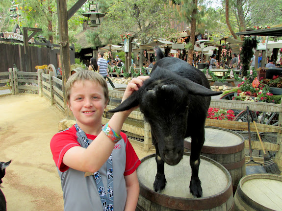 Bradley and a goat