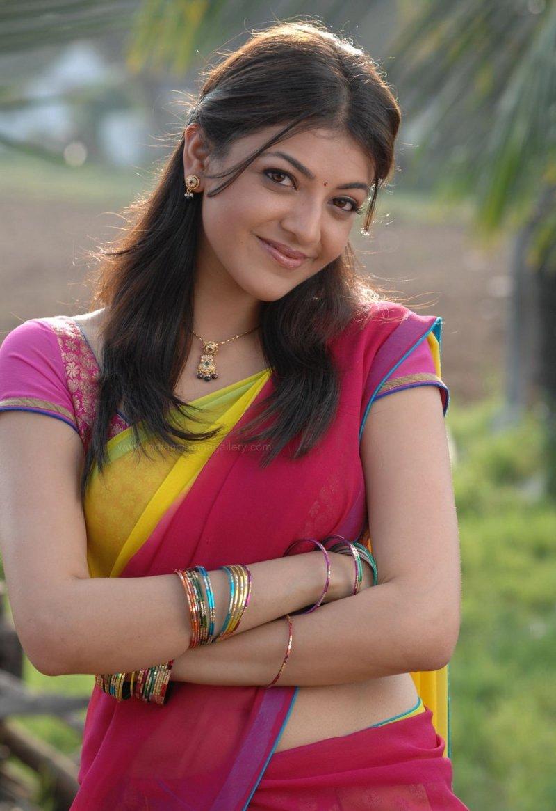 Sexy Hot Images Of Actress Hd - Hot Sexy Kajal Agarwal Hot Half Saree Navel Photos-4890