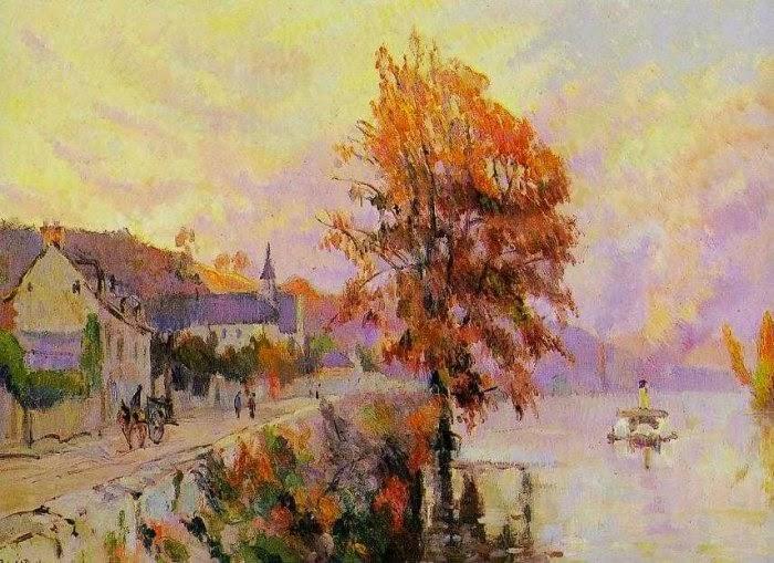 Robert Antoine Pinchon - La Seine à La Bouille