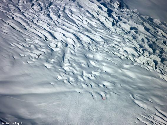 Avalanche Mont Blanc, secteur Aiguille du Midi, Glacier Rond - Photo 1 - © Payot Karine