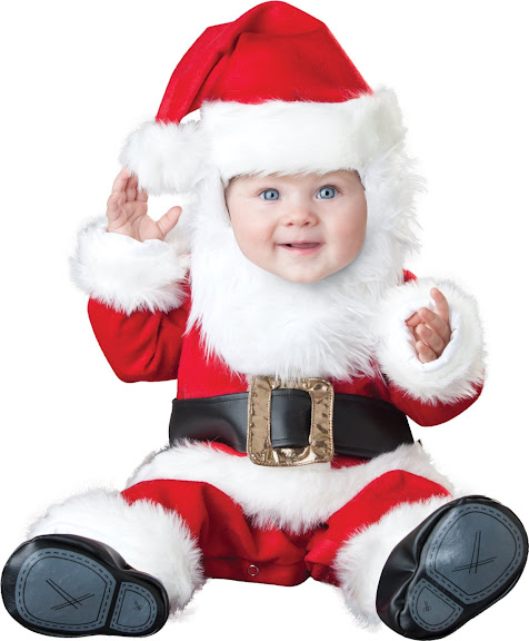 Incharacter Costumes, LLC Santa Baby Lined Zippered Jumpsuit