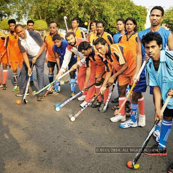 Chak De spirit during the Raahgiri Day, in Delhi.