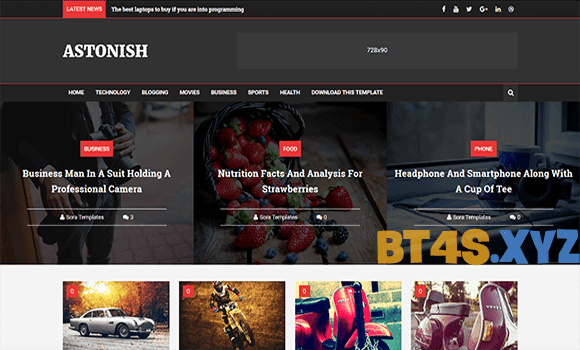 Template blogspot tin tức Astonish Responsive đẹp