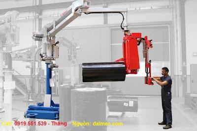 Cánh tay robot nâng cuộn cách nhiệt Dalmec Italy
