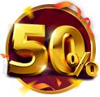 V9Bet thưởng 50% nạp tiền trở lại