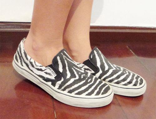 Inspiração zebra - tênis