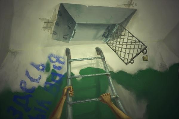 """Никита и человечки"", иллюстрация Р.Ахматнурова"