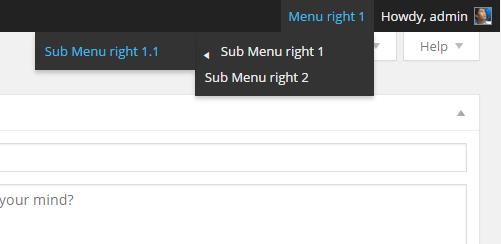 Thêm menu vào bên phải của admin bar trong wordpress