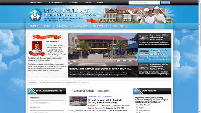 Desain Web Tutorial : Contoh Desain Web Dinas Pemerintahan Dengan ...