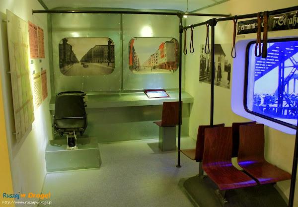 Wnętrze trolejbusa w Muzeum Miasta Gdyni